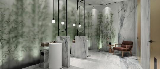 Mermer Banyo